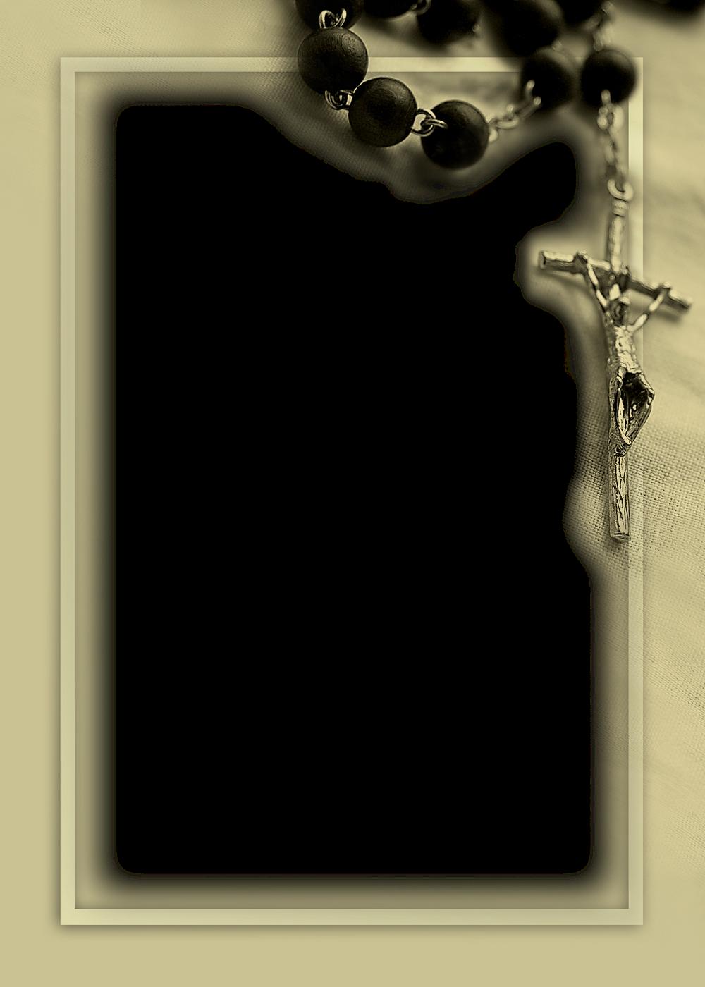 marco de foto de bautismo