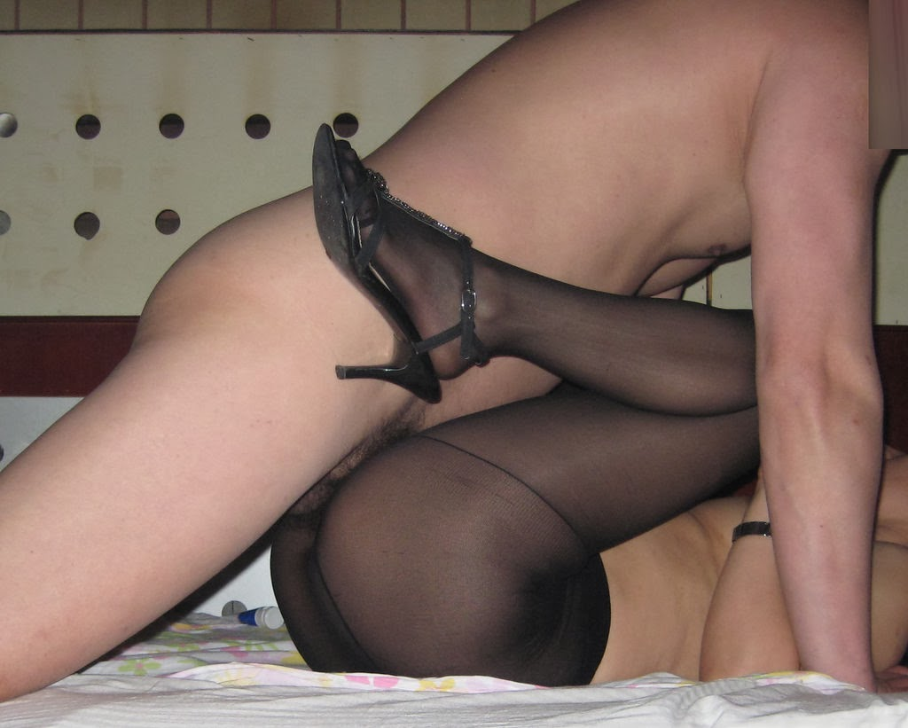 Mature stocking handjob