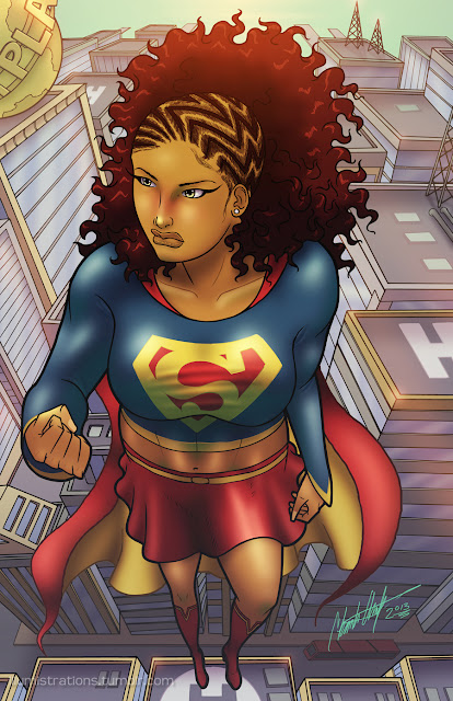 african american black superhero superheroine heroine Supergirl heroes