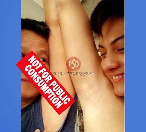 Daniel Padilla's armpit