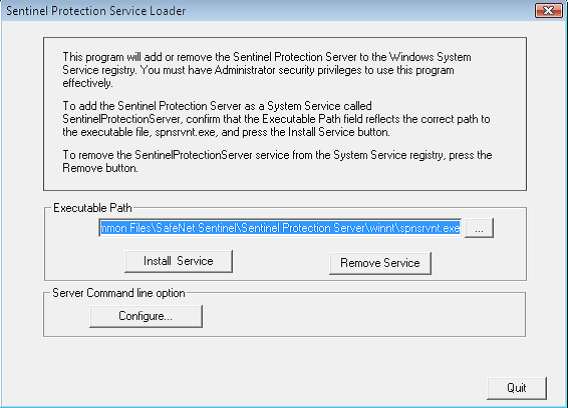 Opus Planet 007 Levantamiento del servicio Safe Net Sentinel