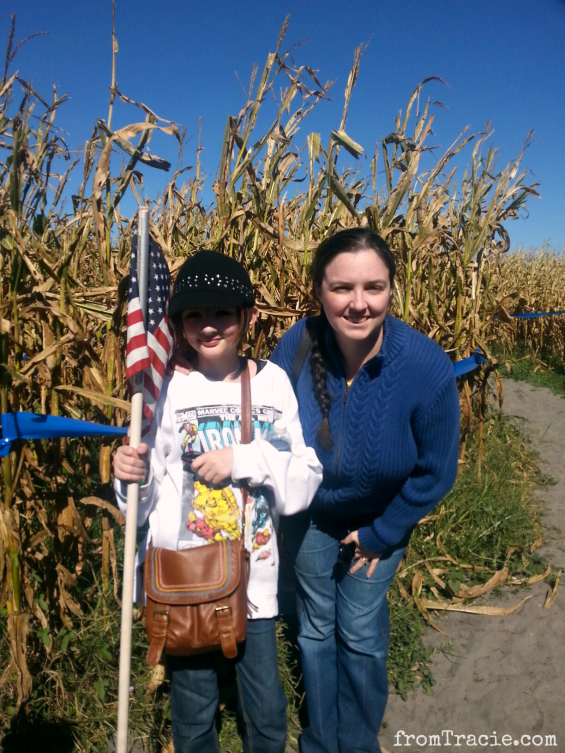 Tracie and Katarina in a corn maze
