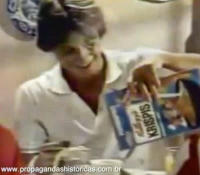 Propaganda dos cereais da Kellogg's em 1982.