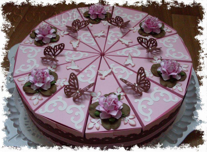 Подарки торт из картона