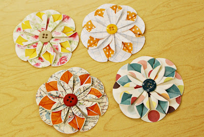 embrulhos e sacolas para presentes Folded+flowers