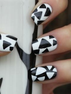 nokti slike crno beli motivi 008