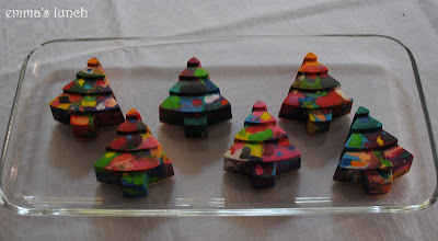 Christmas Tree Shaped crayons