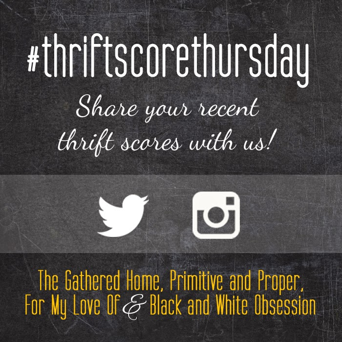#thriftscorethursday Week 62 | Trisha from Black and White Obsession, Brynne's from The Gathered Home, Cassie from Primitive and Proper, Corinna from For My Love Of, and Guest Poster: CoCo from The Crowned Goat