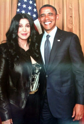 Cher with President Obama, 2012