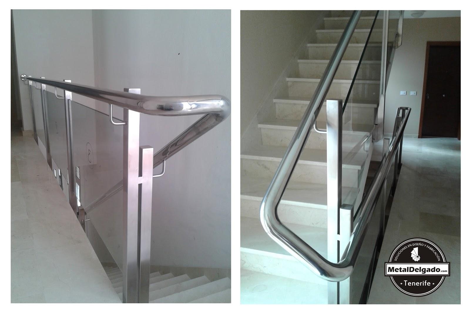 Acero inoxidable tenerife barandas acero inoxidable para - Escaleras con barandilla de cristal ...