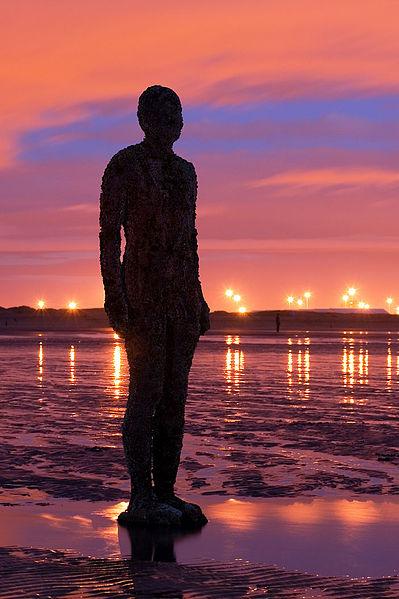 Beach, Crosby Beach, Liverpool, Sculpture, Art,