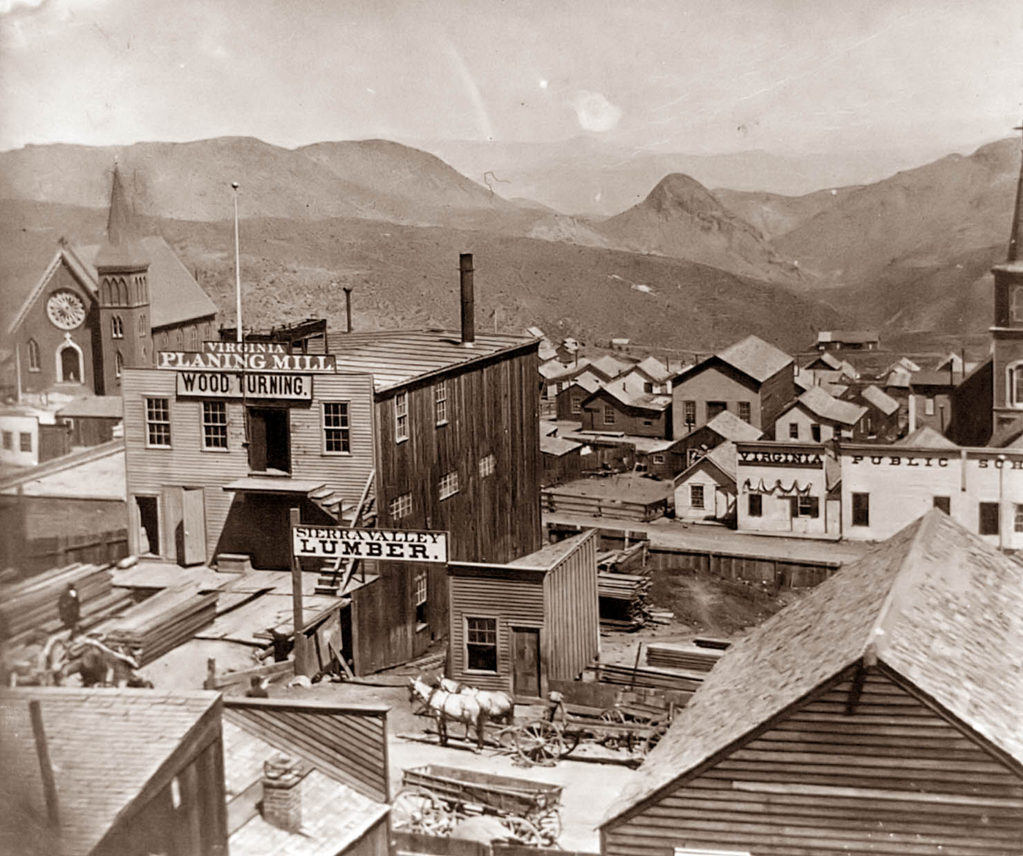 Old Picture of the Day: Virginia Cityvirginia city town