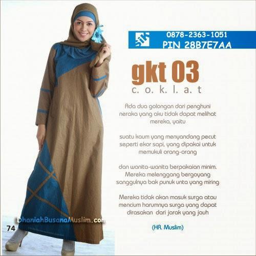 Gamis Sik Clothing GKT 03 Coklat