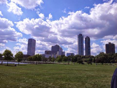 Milwaukee skyline, WI  Sept. 7, 2014 taken by Sue Allemand