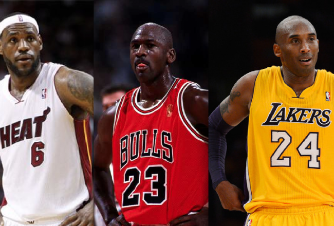 Michael Jordan Lebron James Kobe Bryant NBA gratis free online en vivo MVP historia