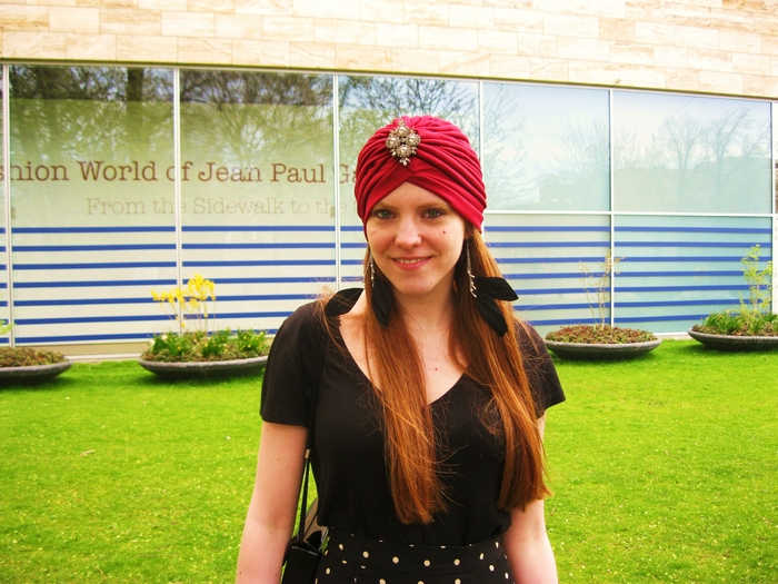 Turban Fashion Blog Beyond Retro Feather Earrings