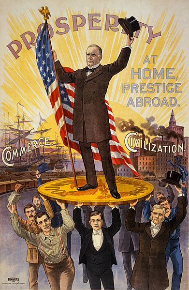an old-time presidential campaign poster