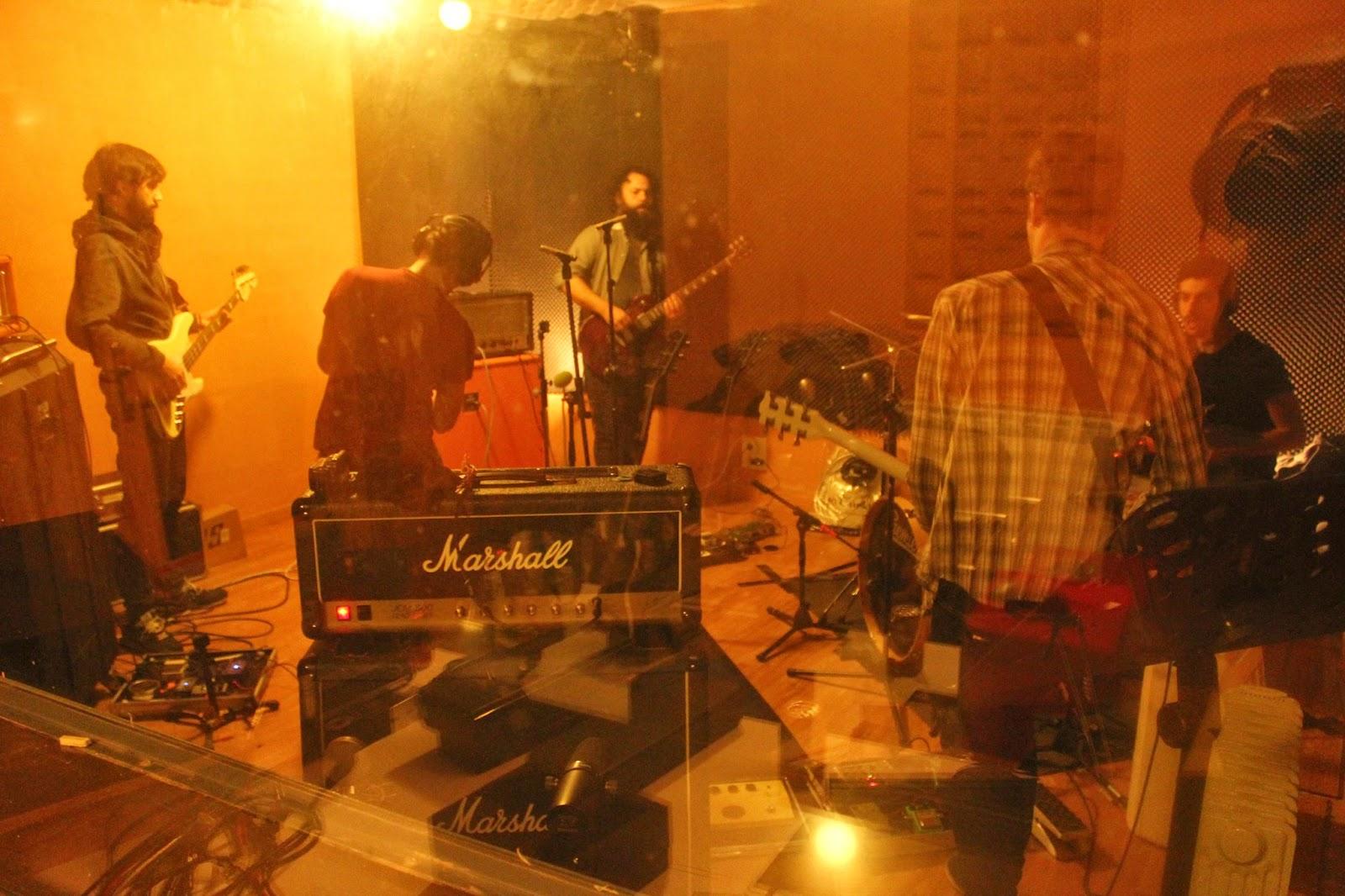 Toundra en los estudios de grabación trabajando en el que será su próximo disco: IV
