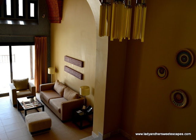 One-Bedroom Villa's living room at The Cove Rotana