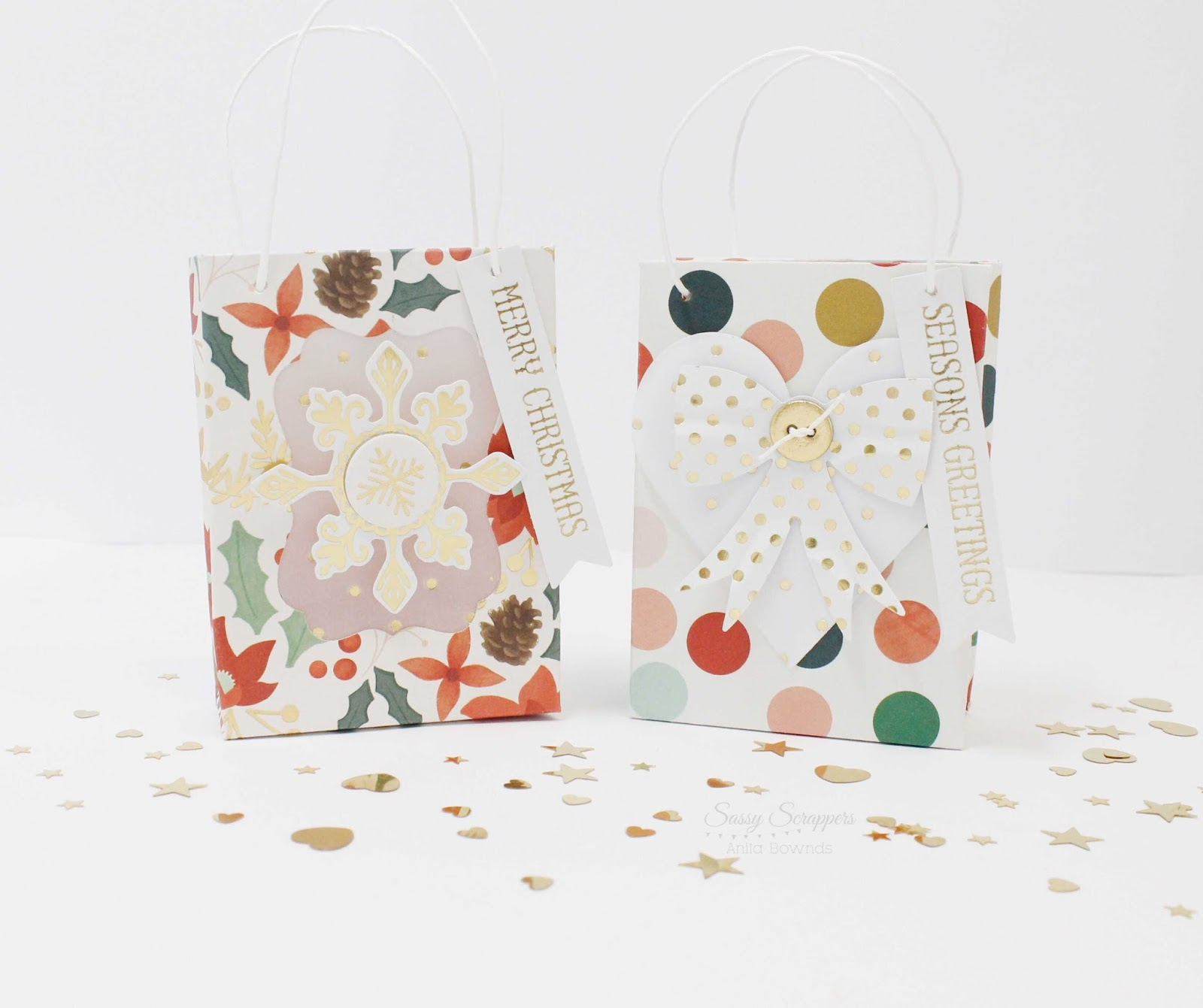 Sassy Scrapper Mini Gift Bags With Anita Bownds