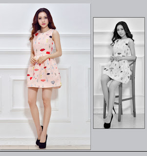 Mini Dress Korea Cantik