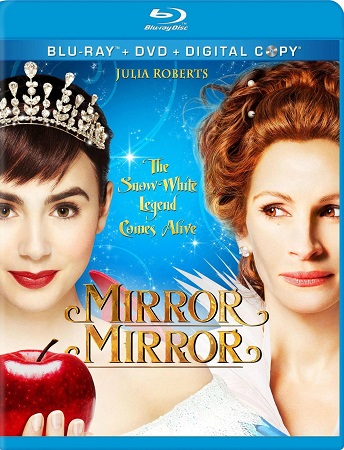 Poster Of Mirror Mirror 2012 Dual Audio 300MB BRRip 576p Free Download Watch Online