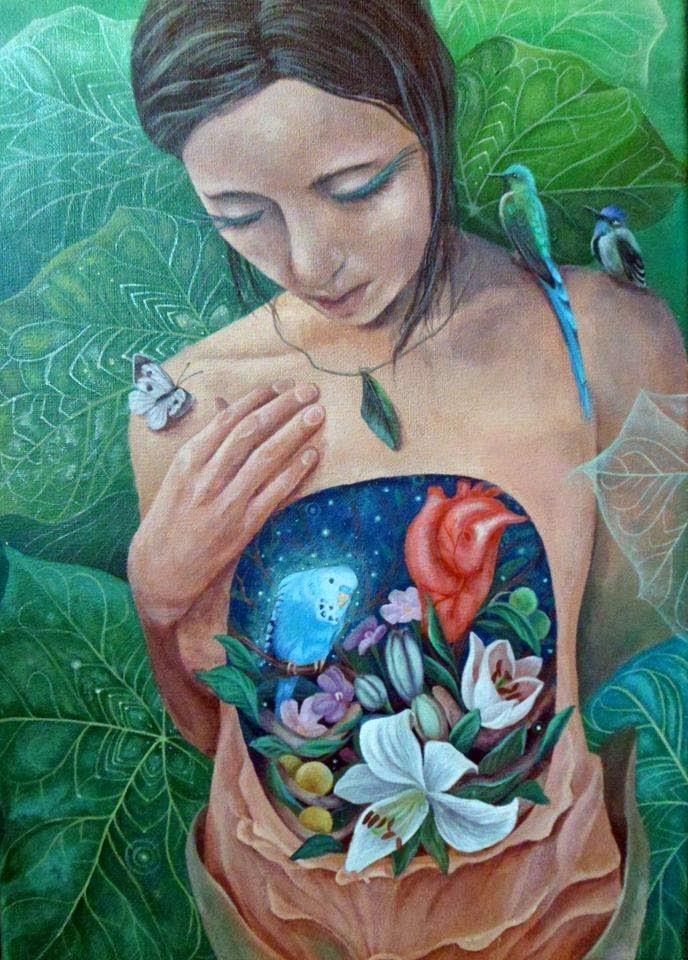 Mujer Pájaro Guerrera Arcoiris