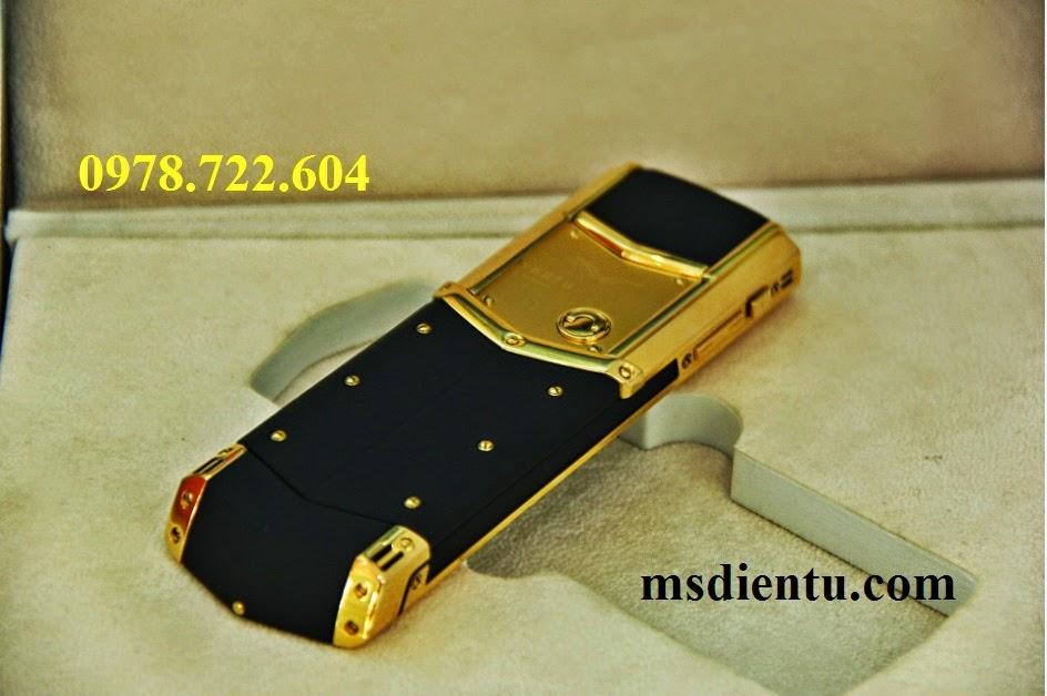 địa chỉ bán mặt trước Vertu Signature S Red Gold Ceramic vàng đồng