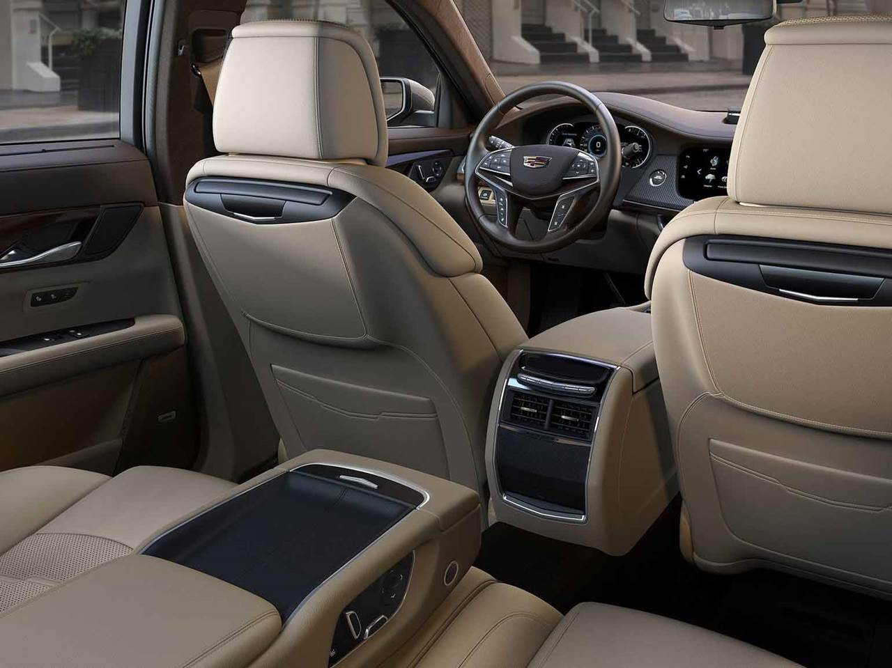 Cadillac CT6 - espaço traseiro