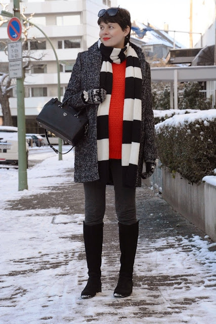 Winter outfit, Blogger winter look, Mantel Esprit