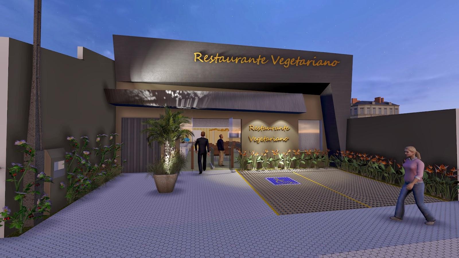 Kedson barbero arquitetura e urbanismo fachada for Fachada para restaurante