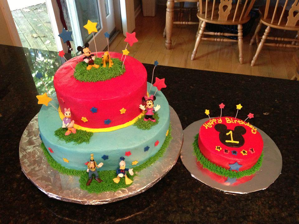 Peaceloveke Mickey Mouse 1st Birthday Cake