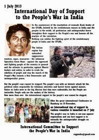 1 luglio: Giornata Internazionale di Sostegno alla Guerra Popolare in India
