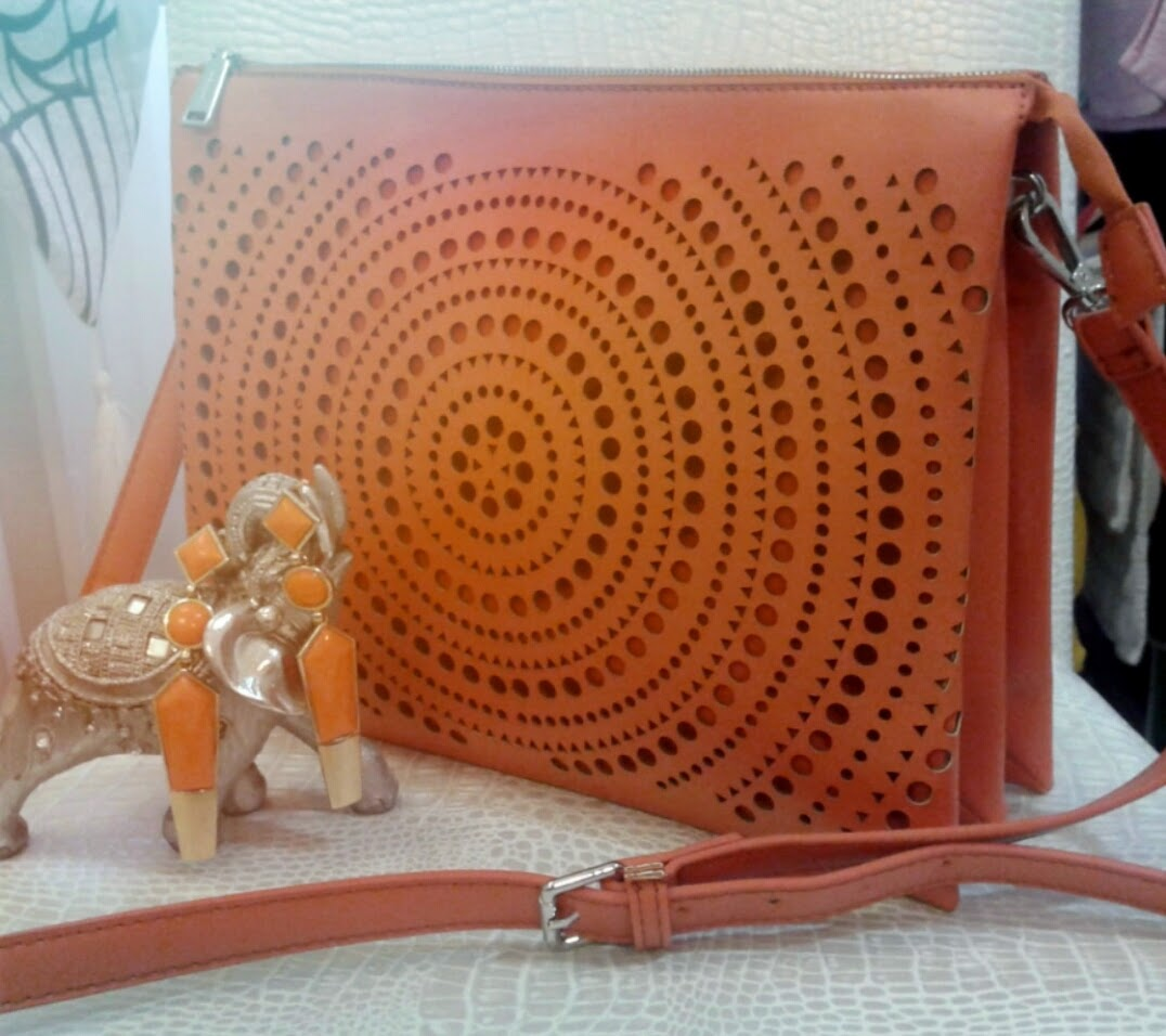 parfois cross body bag in orange