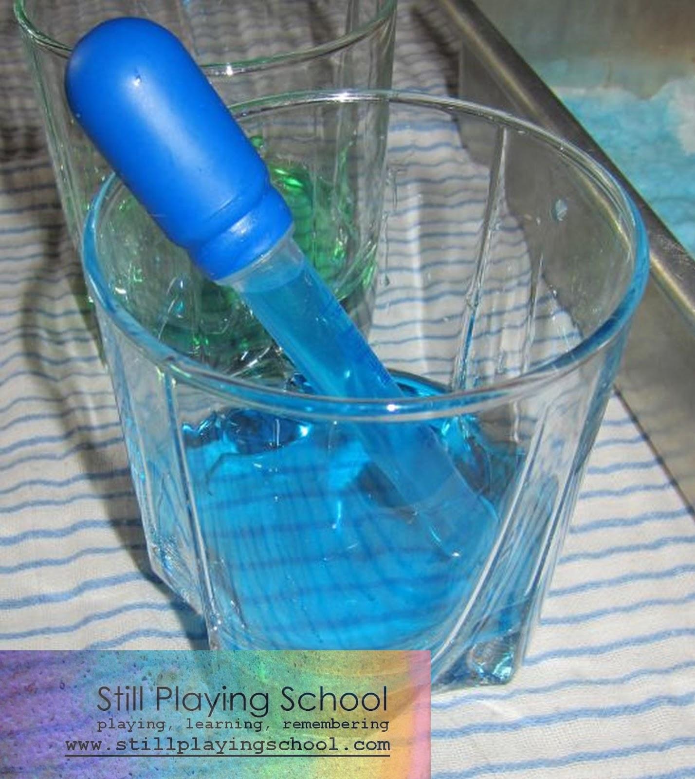 baking soda and colored vinegar still playing school. Black Bedroom Furniture Sets. Home Design Ideas