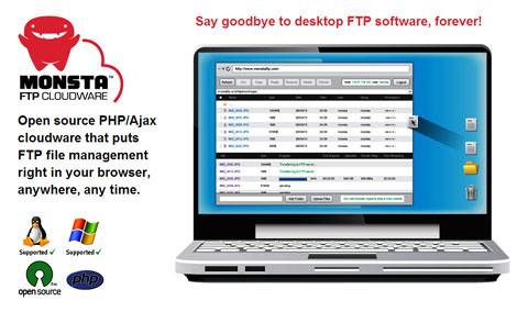 Web-Based & Open Source FTP Application: Monsta FTP
