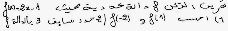 تصحيح تمرين2 حول درس الدالة التآلفية للثالثة اعدادي