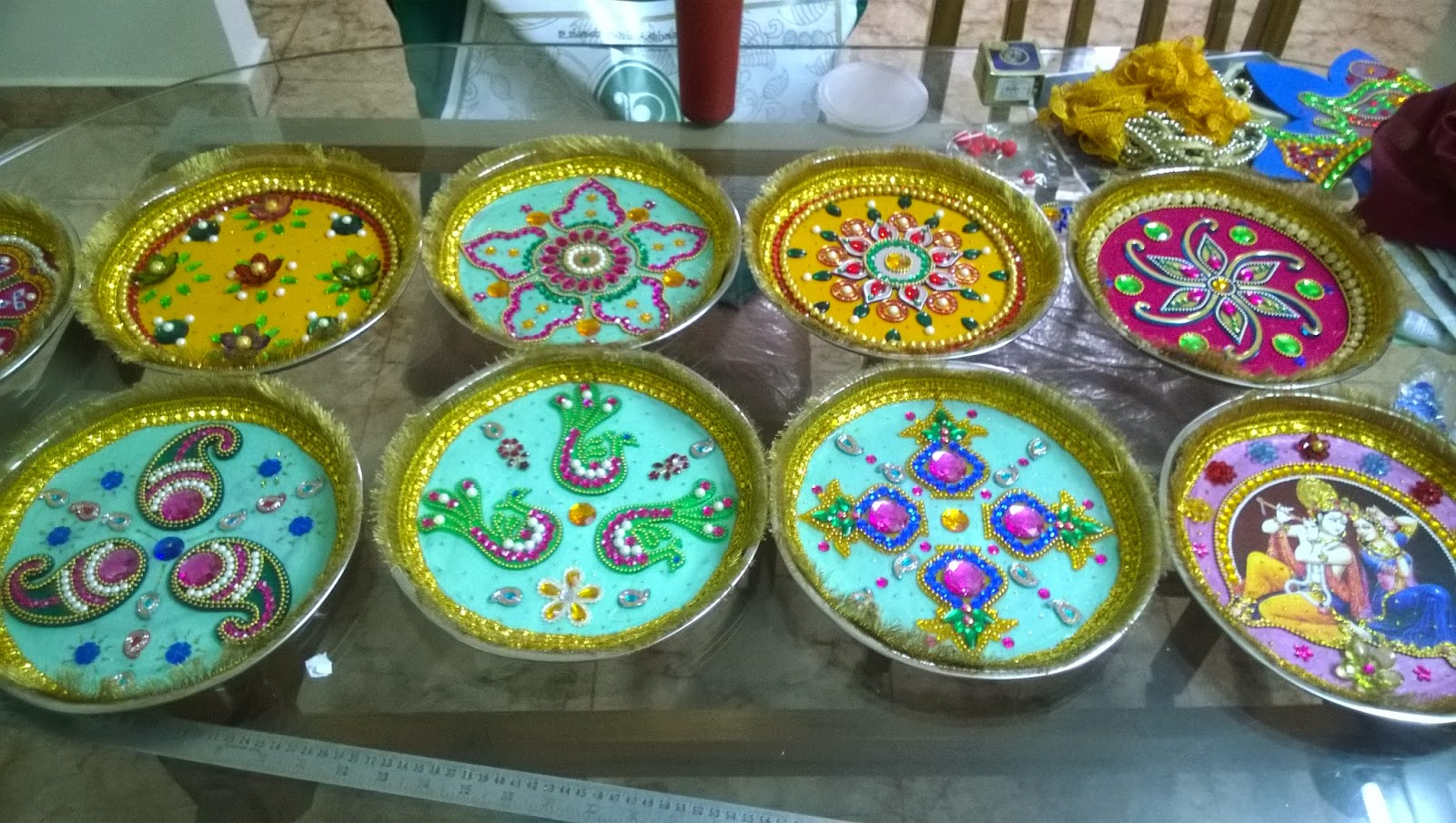 sai mirra decorations aarathi plates