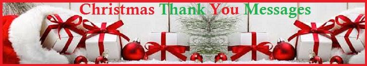 Christmas Thanks Wordings