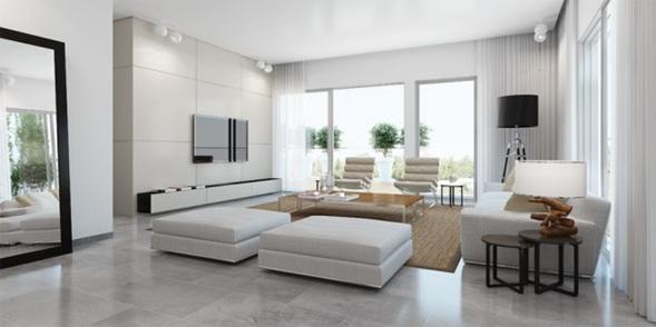 UN REGALO QUE TE DIÓ LA VIDA CAPÍTULO 6: Foto-sala-moderna-color-blanco-8