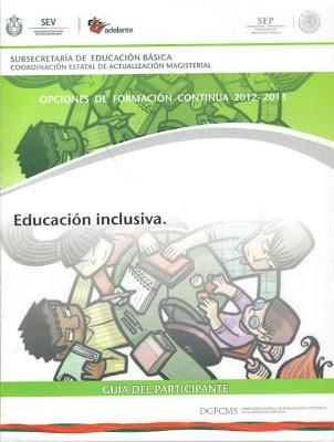 TELESECUNDARIAS ZONA 12 POZA RICA SUR: EDUCACIÓN INCLUSIVA (PROGRAMA ...