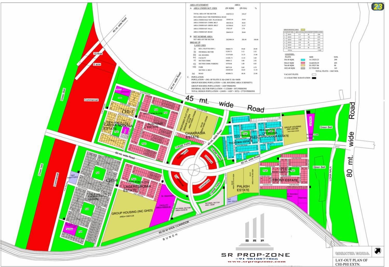 Layout Plan Of Sector-XU-3 Greater Noida HD Map | Davidjmurphyrealestate