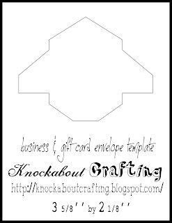 Knockabout crafting business card envelope template these cutie pies can be used for business cards gift cards invoices for your etsy shop thank you notes or whatever else will fit reheart Images