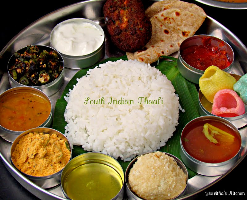 Savitha 39 s kitchen mango sambhar in south indian thaali for Assamese cuisine in bangalore