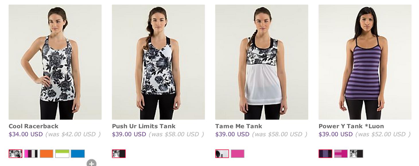 Lululemon warehouse sale 2014 online the sweat edit for Online stores like lulus