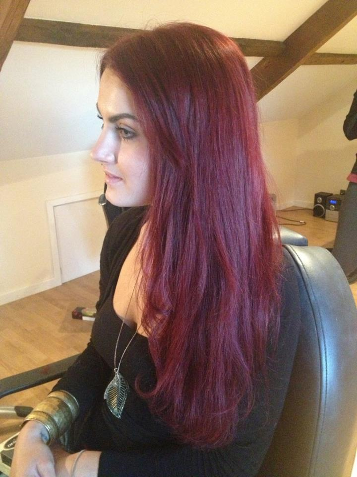 Deep Red Clip In Hair Extensions 42
