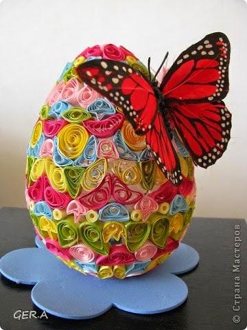 Easter egg butterfly