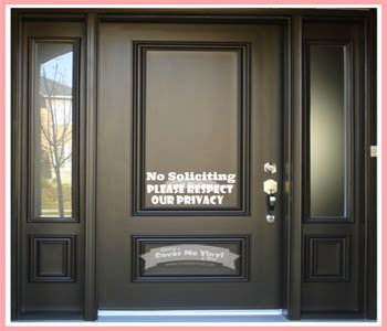 No Soliciting, Please Respect Decal