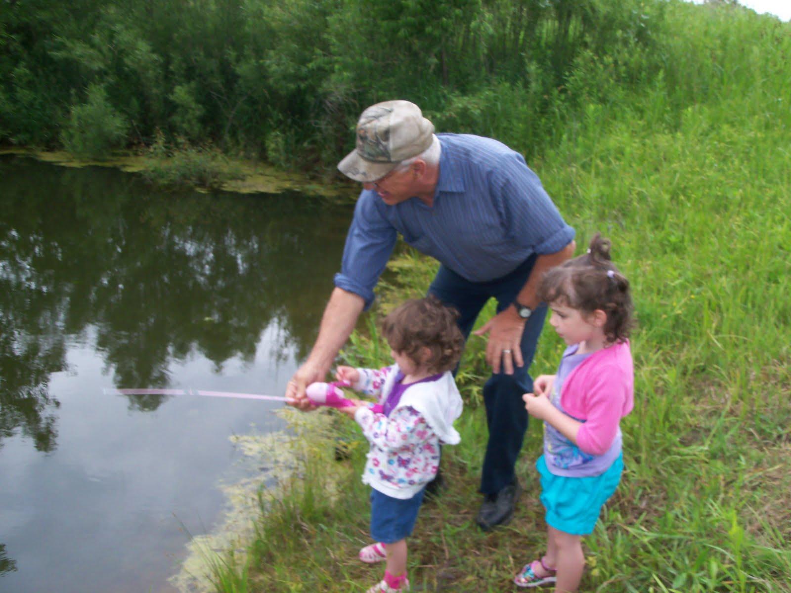 The wards grandpa 39 s girls go fishing for Berrien springs fish cam