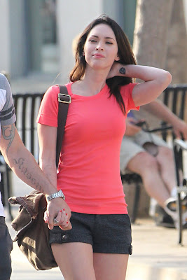 Sexy Megan Fox In Red T-Shirt